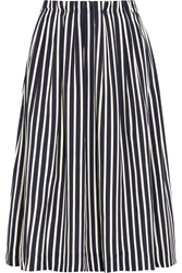J.Crew Catalpa Striped Crepe De Chine Midi Skirt