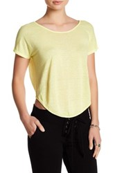 Young Fabulous And Broke Wing Linen Tee Yellow