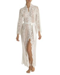 Jonquil Jasmine Floral Lace Long Robe Ivory