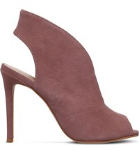 Kurt Geiger Dayna V Front Suede Booties Taupe