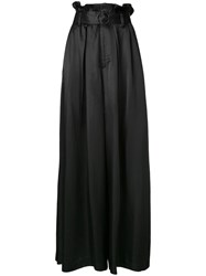 G.V.G.V. Belted Palazzo Trousers Black