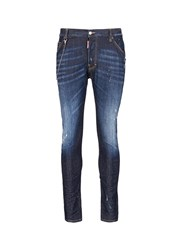 Dsquared 'Classic Kenny' Slim Fit Distressed Jeans Blue