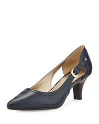 Circa Joan And David Clarity Cutout Pointed Toe Pump Navy
