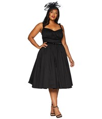 Unique Vintage Plus Size Micheline Pitt For Alice Swing Dress Black