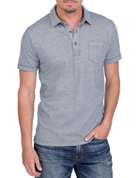 Lucky Brand Resort Cotton Polo Shirt Blue
