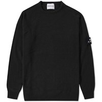 Mki Miyuki Zoku Mki Arm Badge Lambswool Crew Knit Black