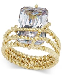 Charter Club Gold Tone Cubic Zirconia Wrap Ring Only At Macy's