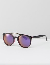 Jeepers Peepers Round Sunglasses With Revo Lenses Purple