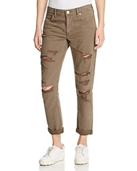 True Religion Audrey Boyfriend Jeans In Olive Drab