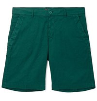 Barena Slim Fit Linen And Cotton Blend Shorts Green