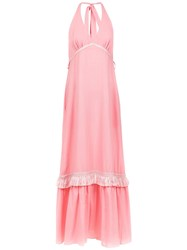 Clube Bossa Halterneck Demuze Dress Pink And Purple