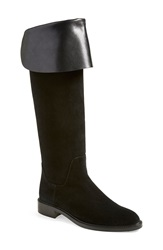 Aquatalia By Marvin K 'Garcelle' Weatherproof Foldover Boot Women Black Suede