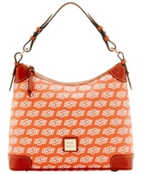 Dooney And Bourke Oklahoma State Cowboys Ncaa Hobo Bag Orange