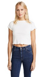 Joe's Jeans X Taylor Hill Baby Tee Porcelain