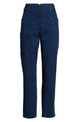 Kenneth Cole New York Zip Front Ankle Pants Billboard Blue