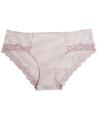 A Pea In The Pod Maternity Lace Trim Hipster Briefs Nirvana Egret Stripe