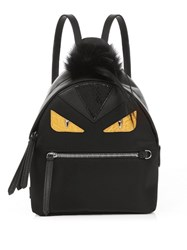 Fendi Bag Bugs Mini Nylon And Fur Backpack