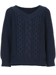 Cityshop Cable Knit Jumper Blue