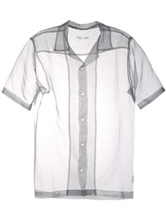Cmmn Swdn Silk Striped Shirt Grey