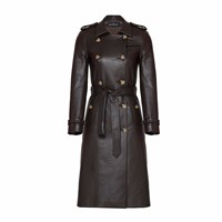 Mybestfriends Leatherette Trenchcoat Brown