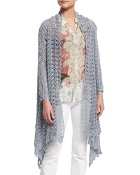 Johnny Was Swirl Crochet Jacket Fog