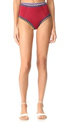 Kiini Soley High Rise Bottoms Red Multi