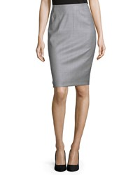 Escada Mid Rise Tonal Striped Pencil Skirt Forest Green