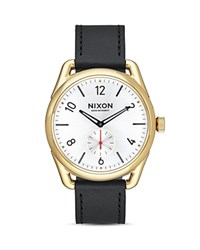 Nixon C39 Leather Strap Watch 39Mm White