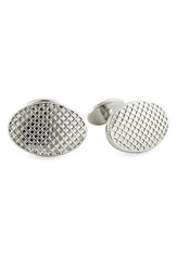 David Donahue Men's Textured Sterling Silver Cuff Links