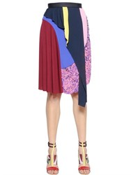 Peter Pilotto Layered And Embellished Viscose Knit Skirt