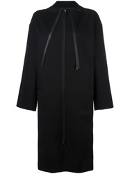 Y 3 Oversized Zipped Coat Black