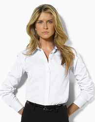 Lauren Ralph Lauren Aaron Long Sleeved Classic Non Iron Shirt White