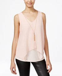 Amy Byer Bcx Juniors' Flyaway Necklace Tank Top Blush