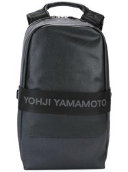 Y 3 Logo Strap Backpack Black