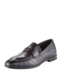 Ermenegildo Zegna Lasola Soft Napa Leather Penny Loafer Black