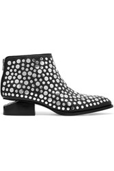 Alexander Wang Kori Studded Leather Ankle Boots Black Silver