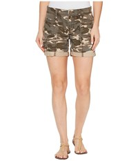 Jag Jeans Carmine Relaxed Utility Shorts In Camo Printed Twill Olive Women's Shorts