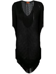 Missoni Tassel Beach Cover Up Women Viscose 42 Black