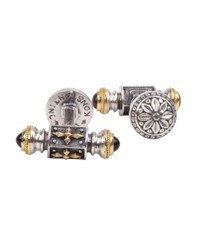 Konstantino Stavros Sterling Silver And 18K Gold Cuff Links