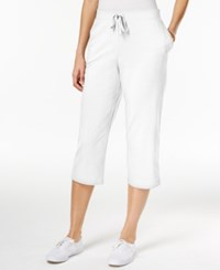 Karen Scott Pull On Capri Pants Only At Macy's Bright White
