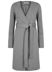 Finders Keepers Upgrade You Grey Belted Jersey Coat Charcoal