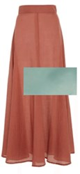 Awaveawake Full Maxi Skirt Add Wind Green Color