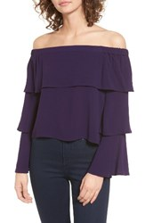 Chloe And Katie Women's Tiered Ruffle Off The Shoulder Top