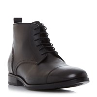 Bertie Mos Toecap Lace Up Formal Boots Black