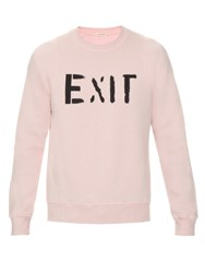 Marc Jacobs Exit Cotton Sweatshirt Light Pink