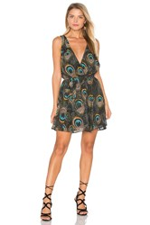 Show Me Your Mumu Corinne Crossover Dress Dark Green