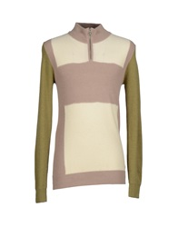 Galliano Turtlenecks Khaki