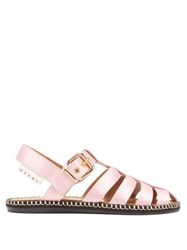Marni Satin Fisherman Sandals Light Pink