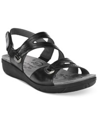 Bare Traps Jevin Strappy Flatform Sandals Women's Shoes Black