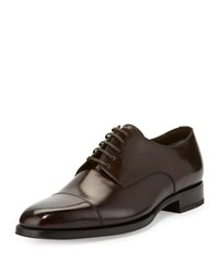 Tom Ford Wessex Cap Toe Leather Oxford Brown